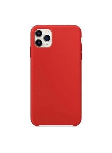 Bludfire Apple iPhone 11 Pro Max (6.5'') Kılıf Liquid Lansman Silikon Kırmızı Kırmızı